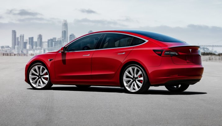 Model 3 Performance - Red Static Rear