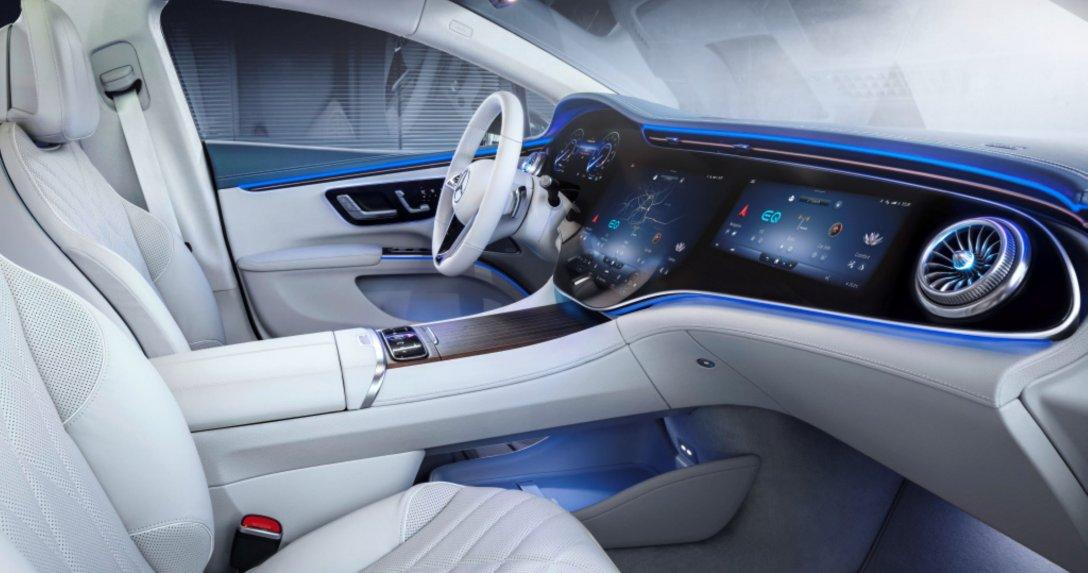 Pierwsze zdjęcia wnętrza – Mercedes EQS