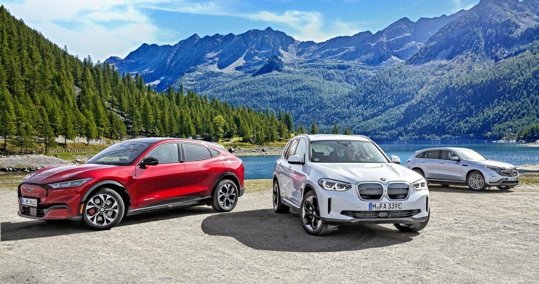BMW iX3, Ford Mustang Mach-E, Mercedes EQC