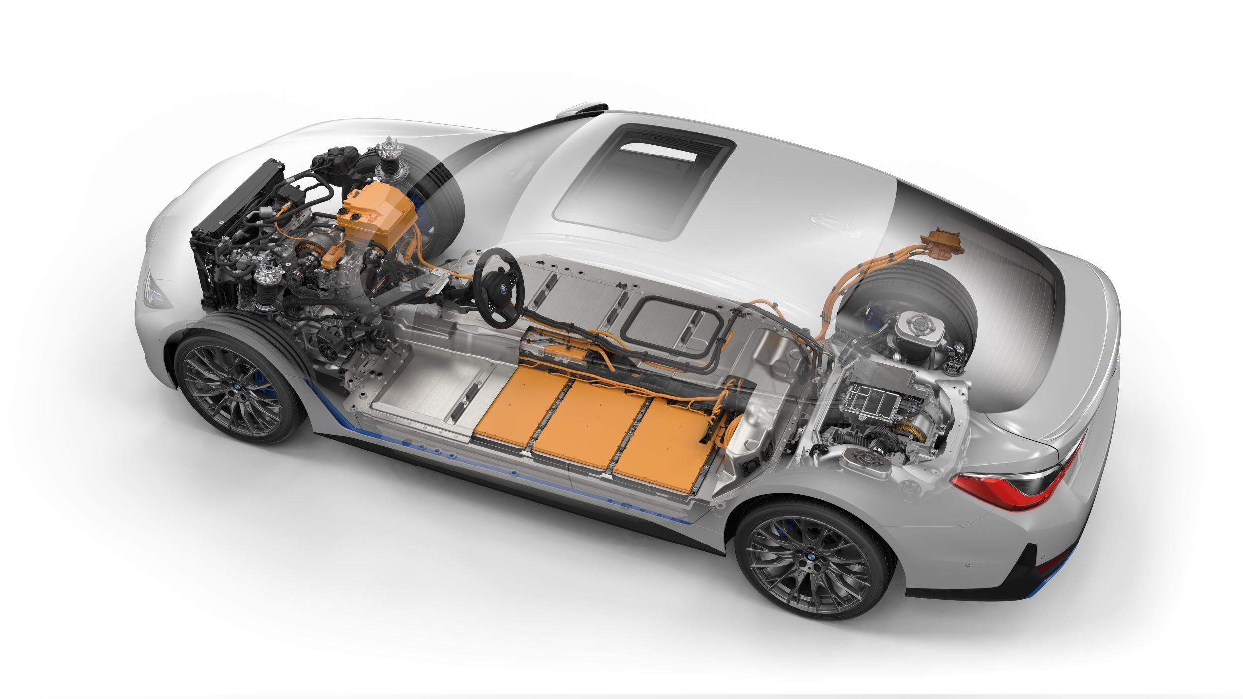 BMW i4 przekrój