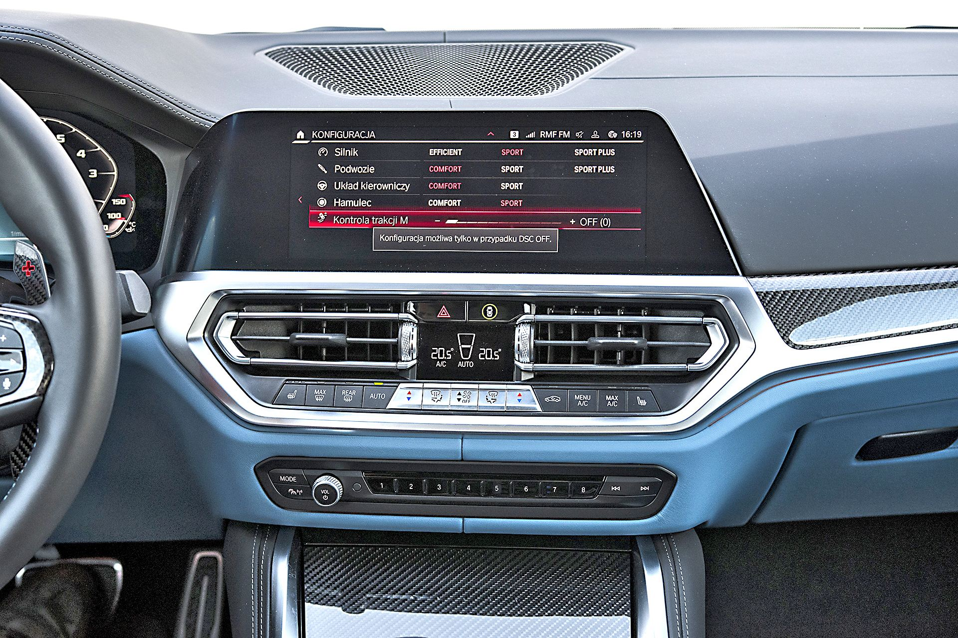 2021 BMW M4 Competition - ustawiania