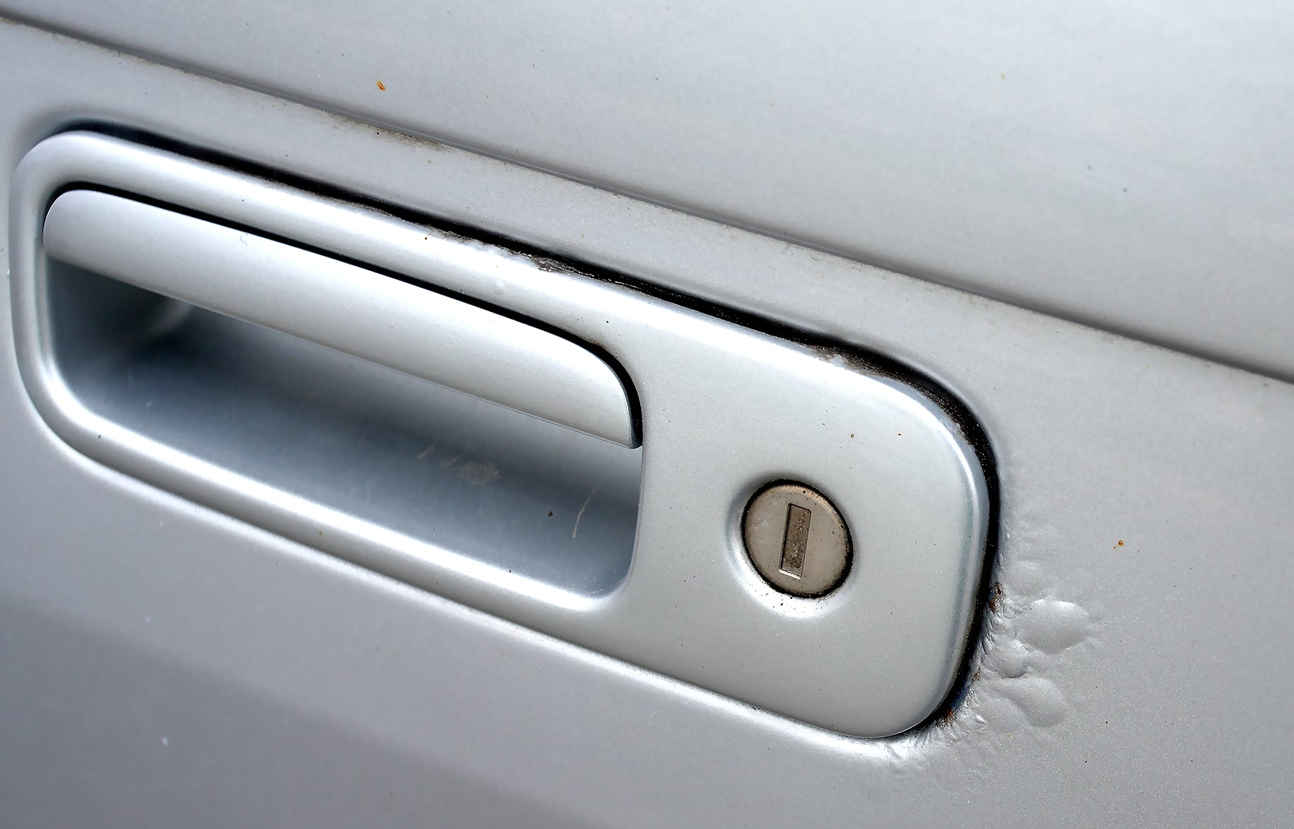 Volkswagen Multivan T5 klamka korozja