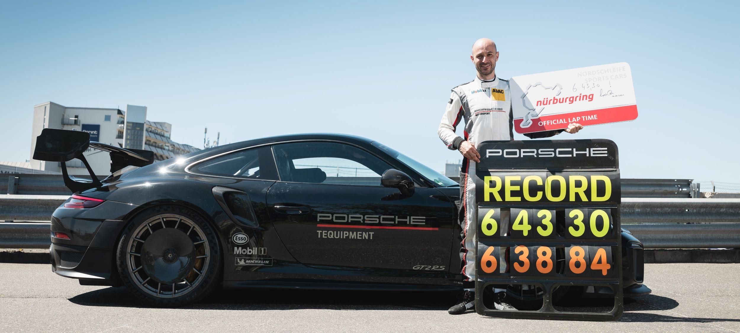 Porsche 911 GT2 RS Nurburgring rekord Lars Kern