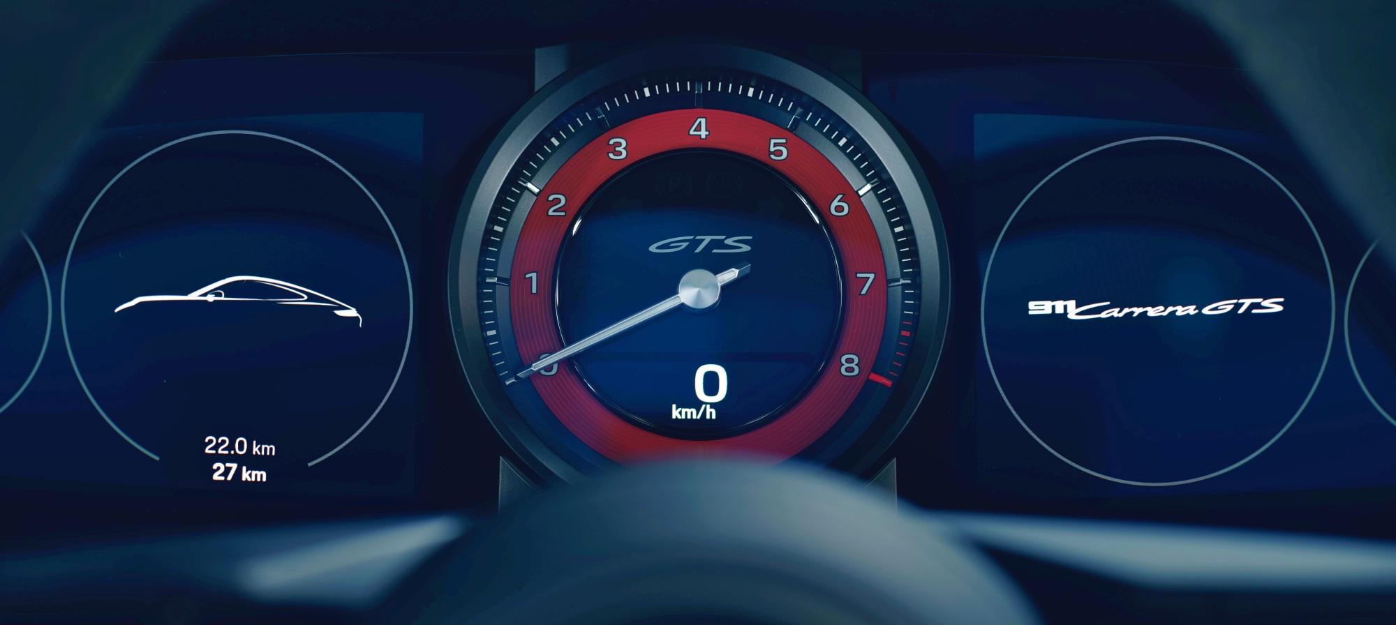 Porsche 911 GTS wskaźniki