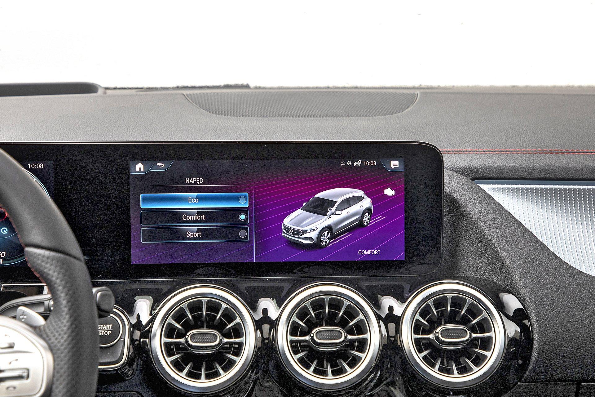 Mercedes EQA 250 - ekran