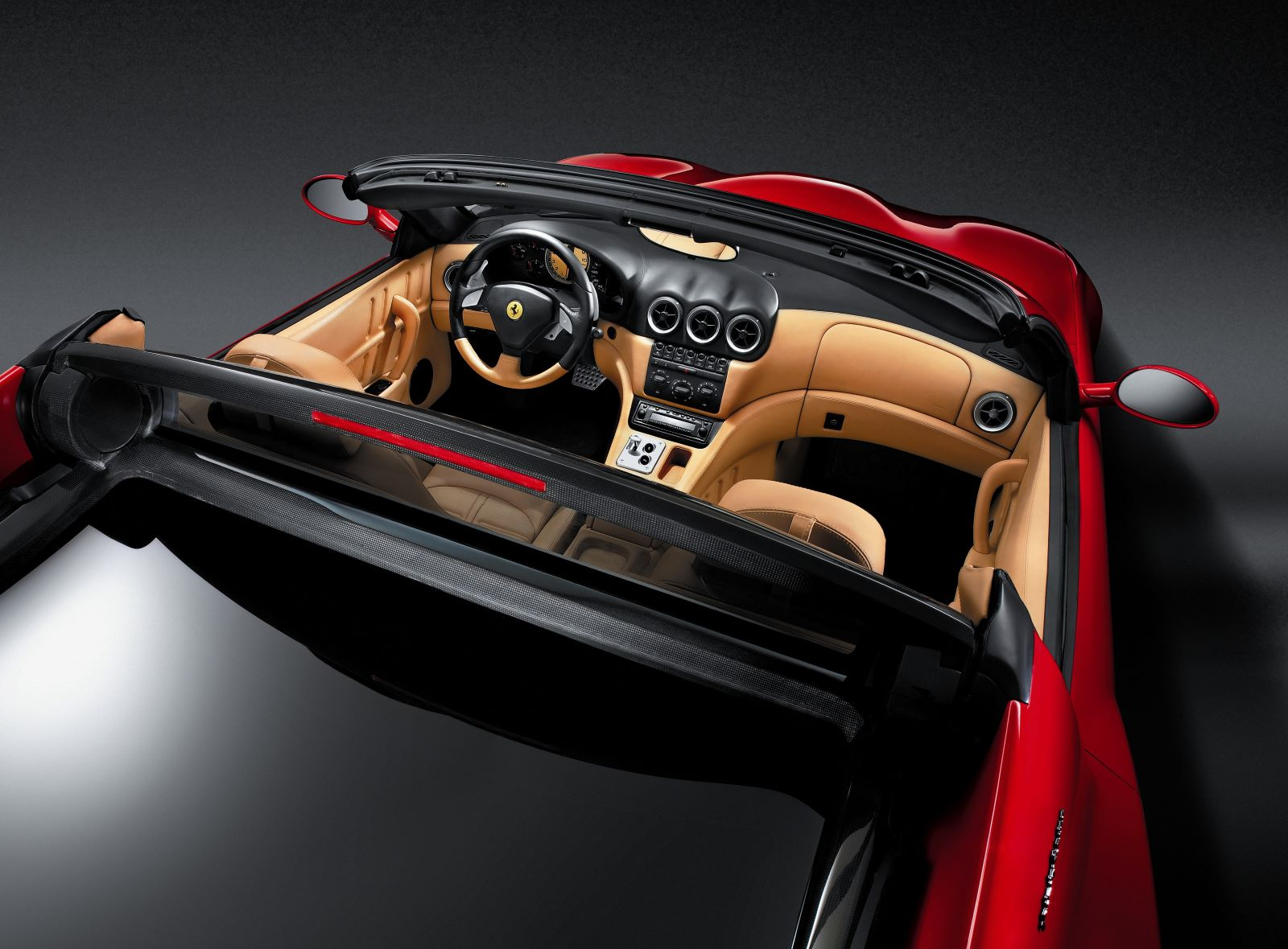 Ferrari Superamerica - deska rozdzielcza, wnętrze