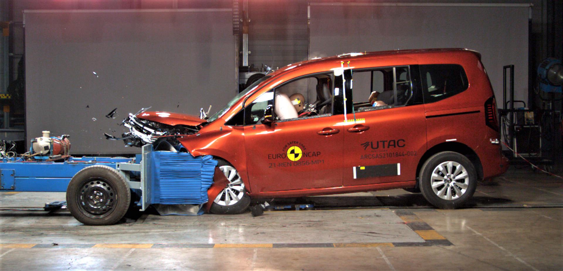 Renault Kangoo test czołowy Euro NCAP