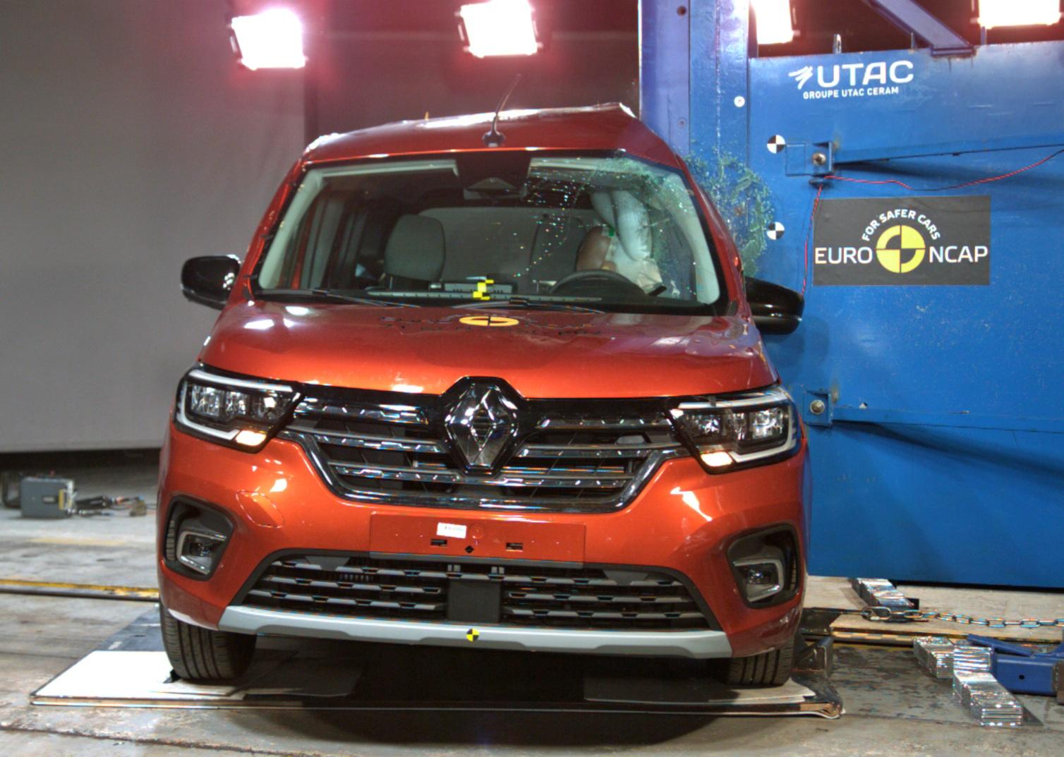 Renault Kangoo test boczny Euro NCAP