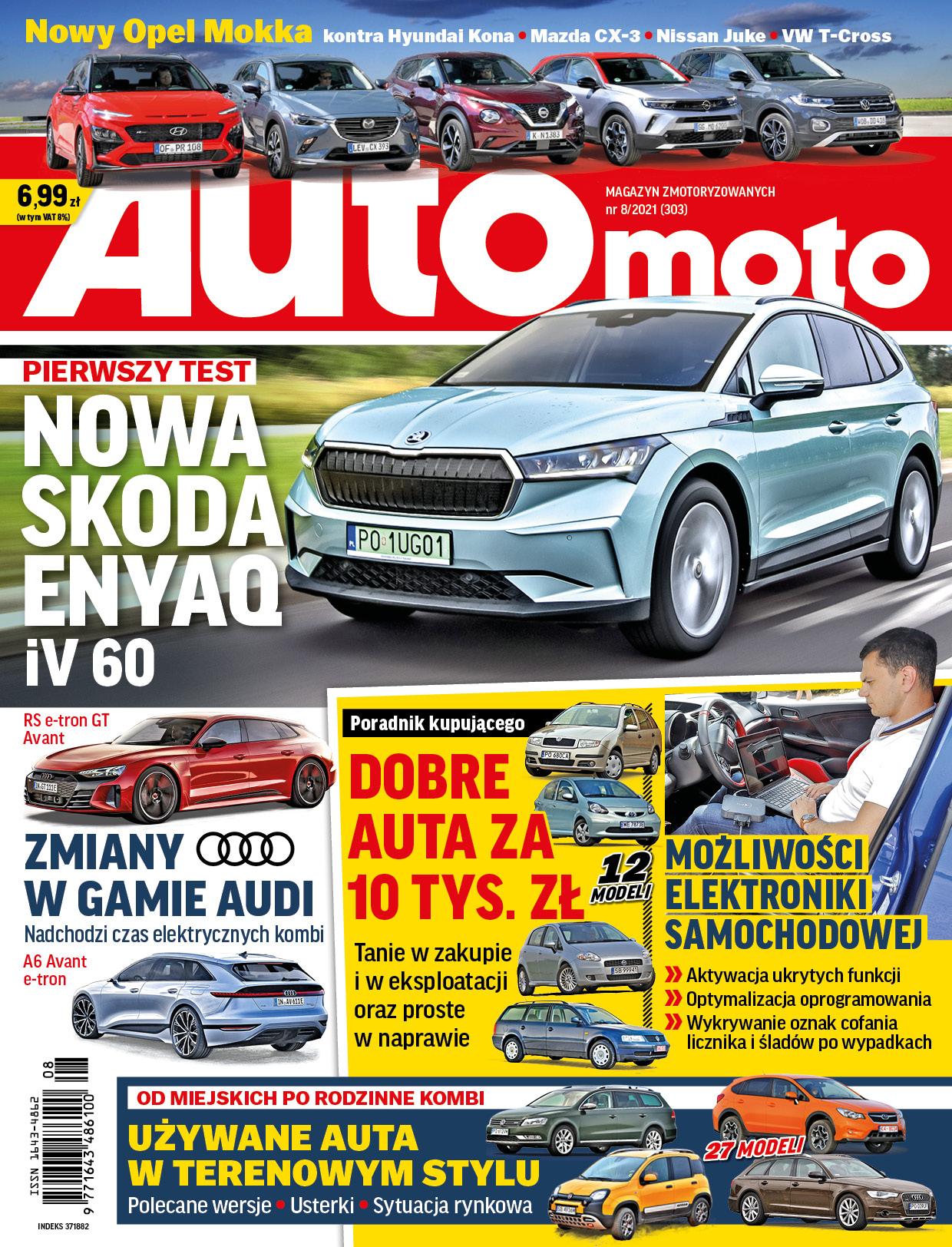 "Okładka ""Auto Moto"" nr 8/2021"