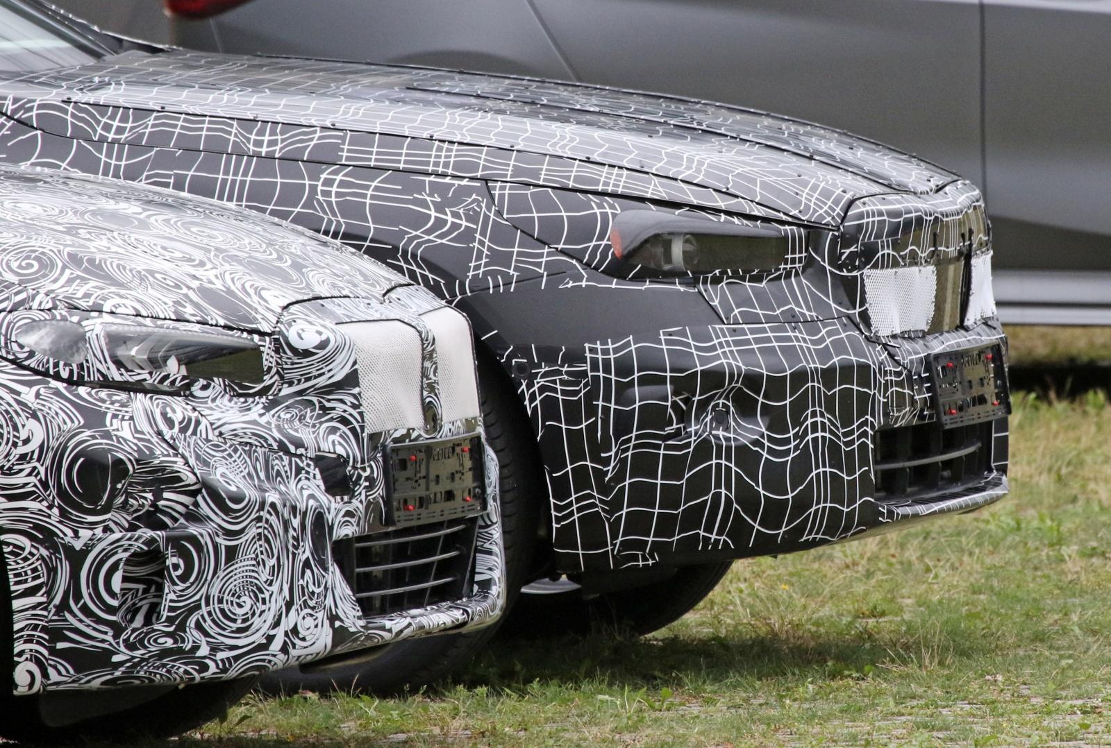 BMW serii 5 - przód, reflektory