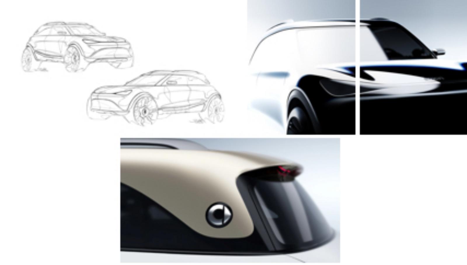 Smart SUV - szkic, tylny słupek, przód