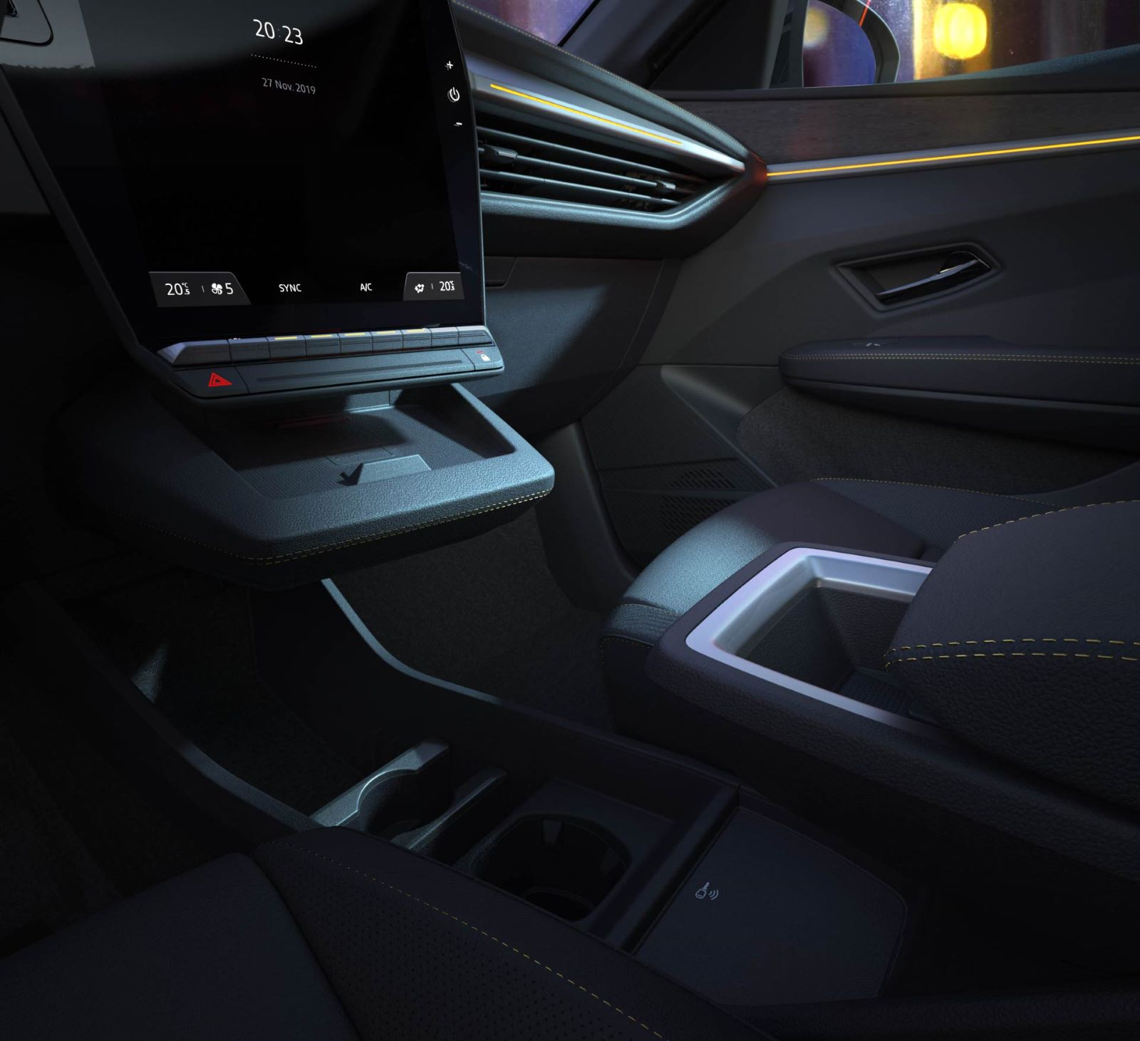 Renault MeganE - środkowa konsola