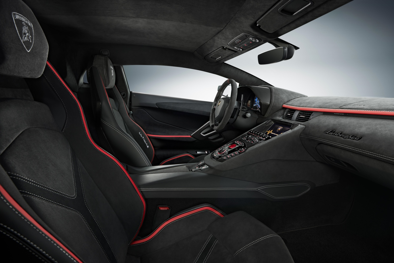Lamborghini Aventador LP 780-4 Ultimae coupe - wnętrze, deska rozdzielcza