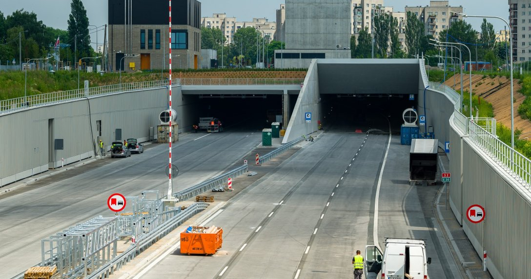 tunel pod Ursynowem w Warszawie na trasie S2