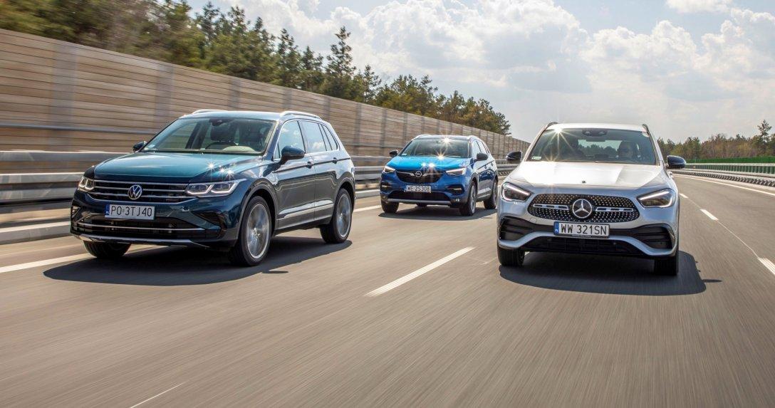 VW Tiguan eHybrid, Opel Grandland X Hybrid, Mercedes 250e