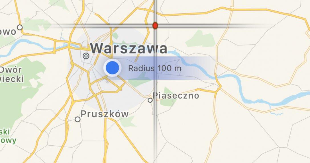 Mapa ze smartfona