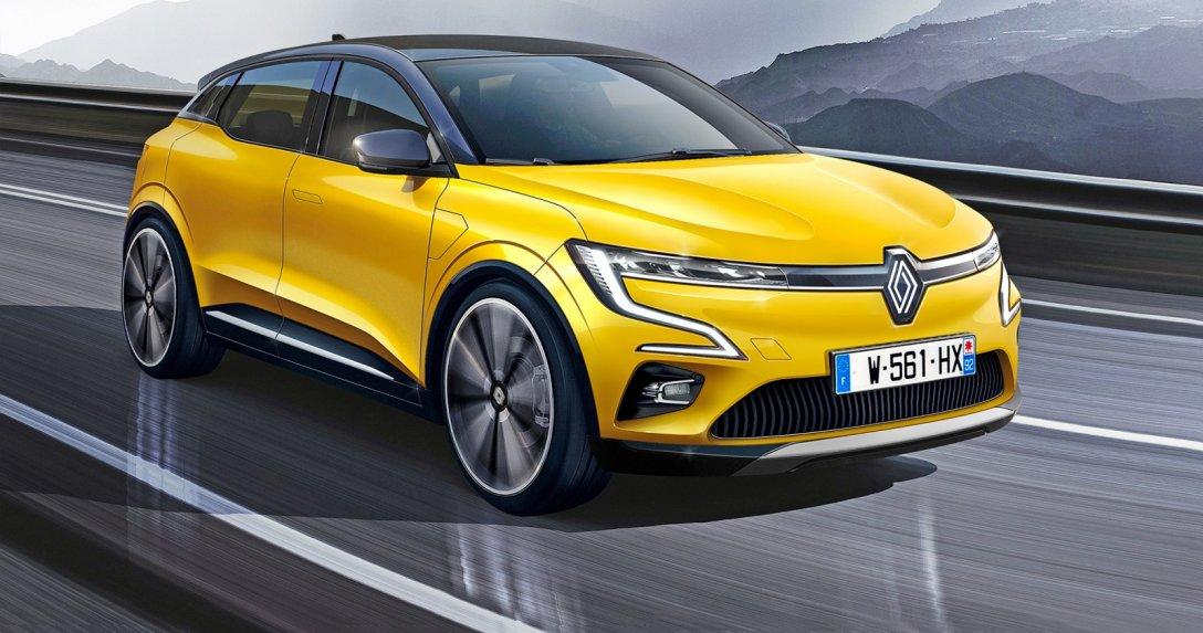 Renault MeganE - przód, wizualizacja