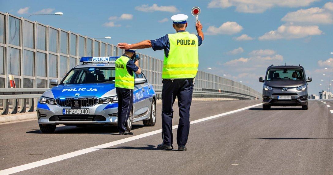 Policja zatrzymanie auta