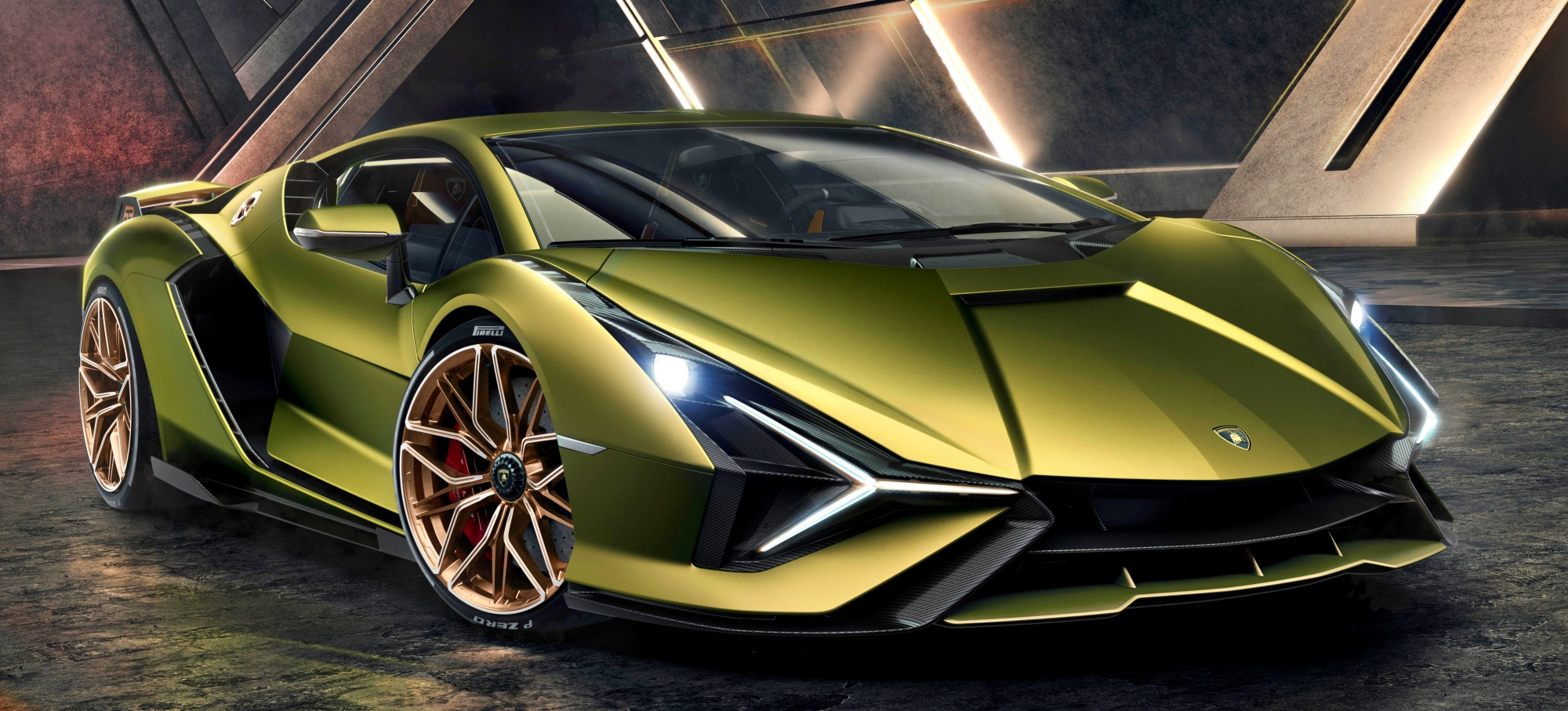 Lamborghini Sian przód