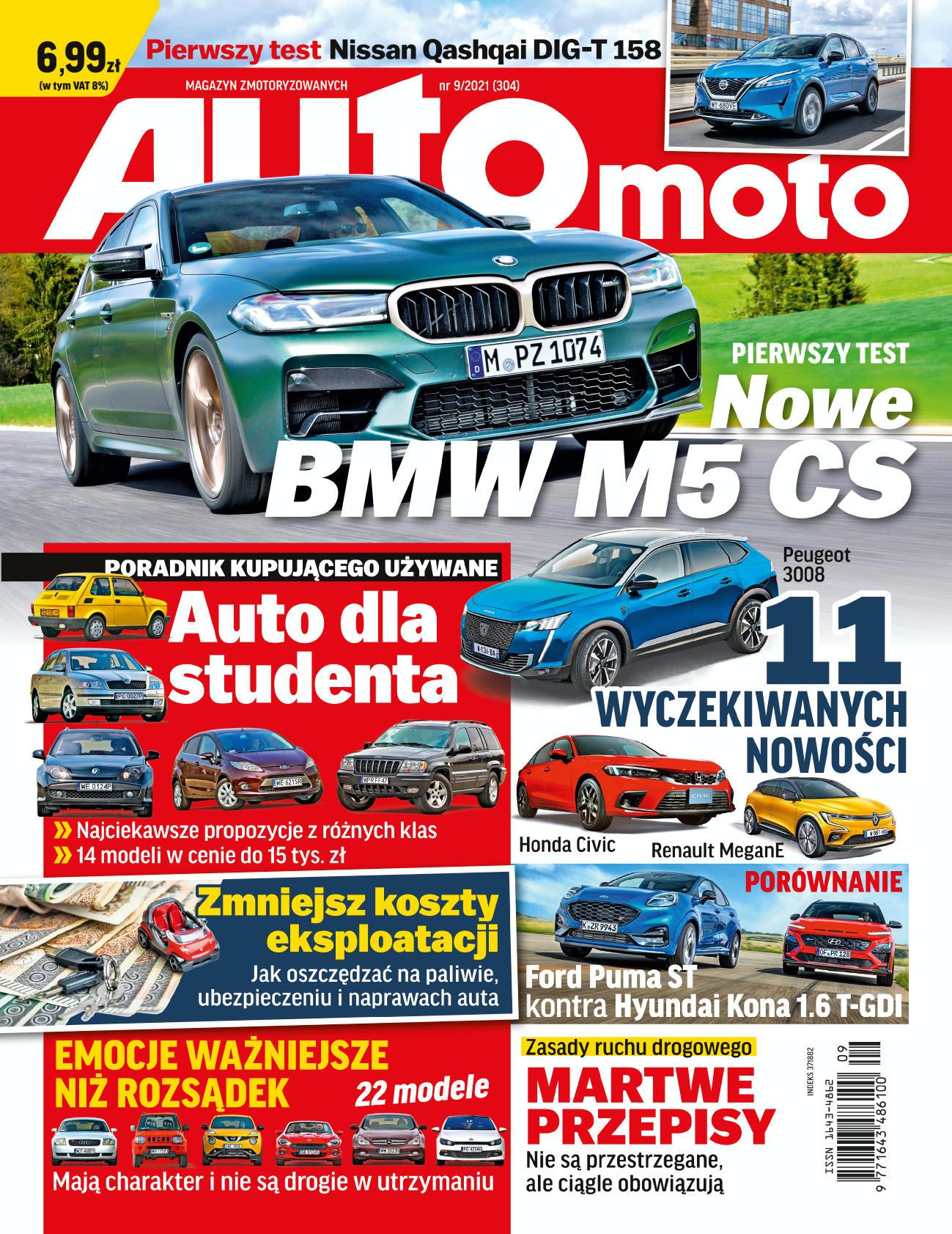 okładka Auto Moto nr 9 z2021 roku