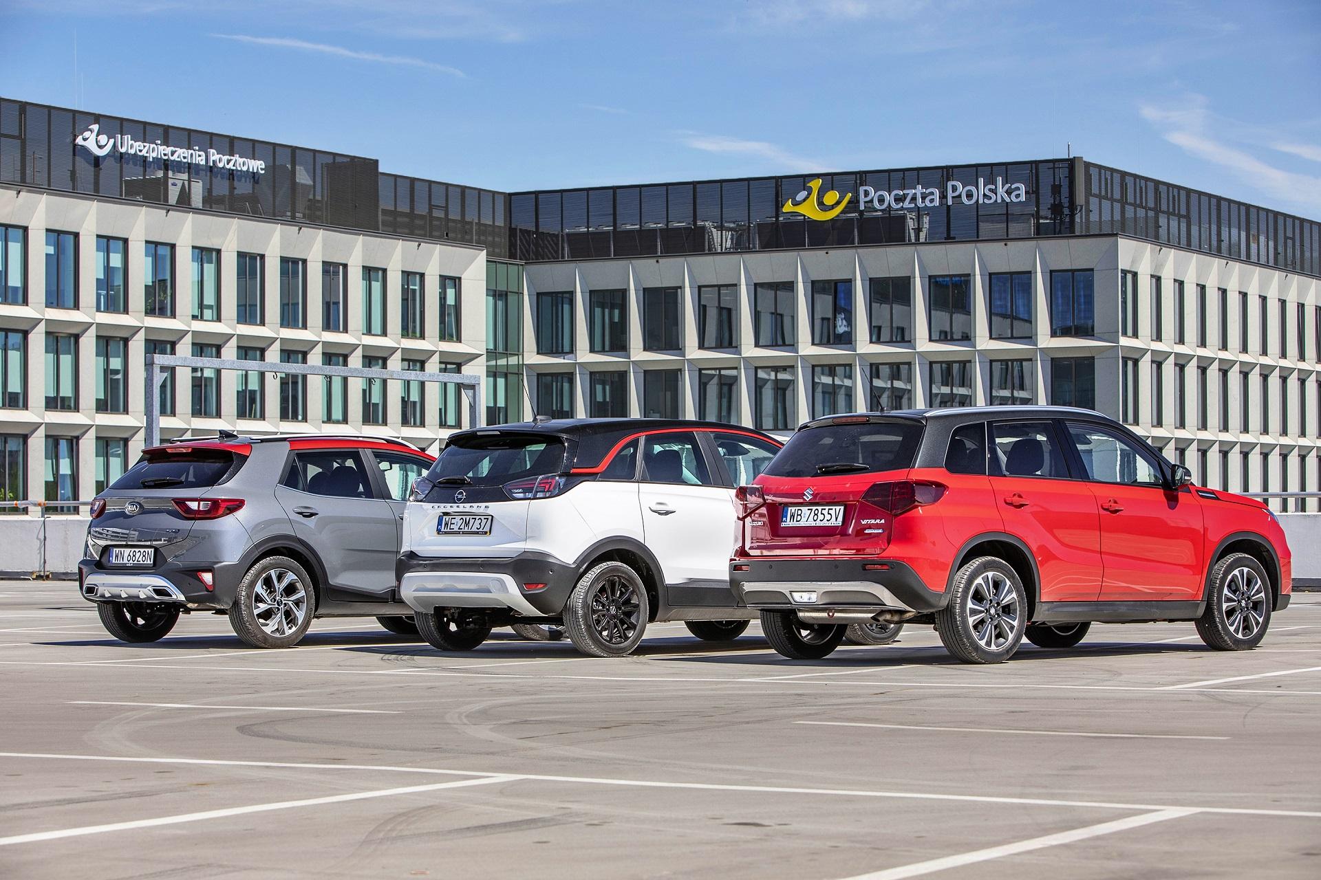 Kia Stonic, Opel Crossland, Suzuki Vitara - tyły
