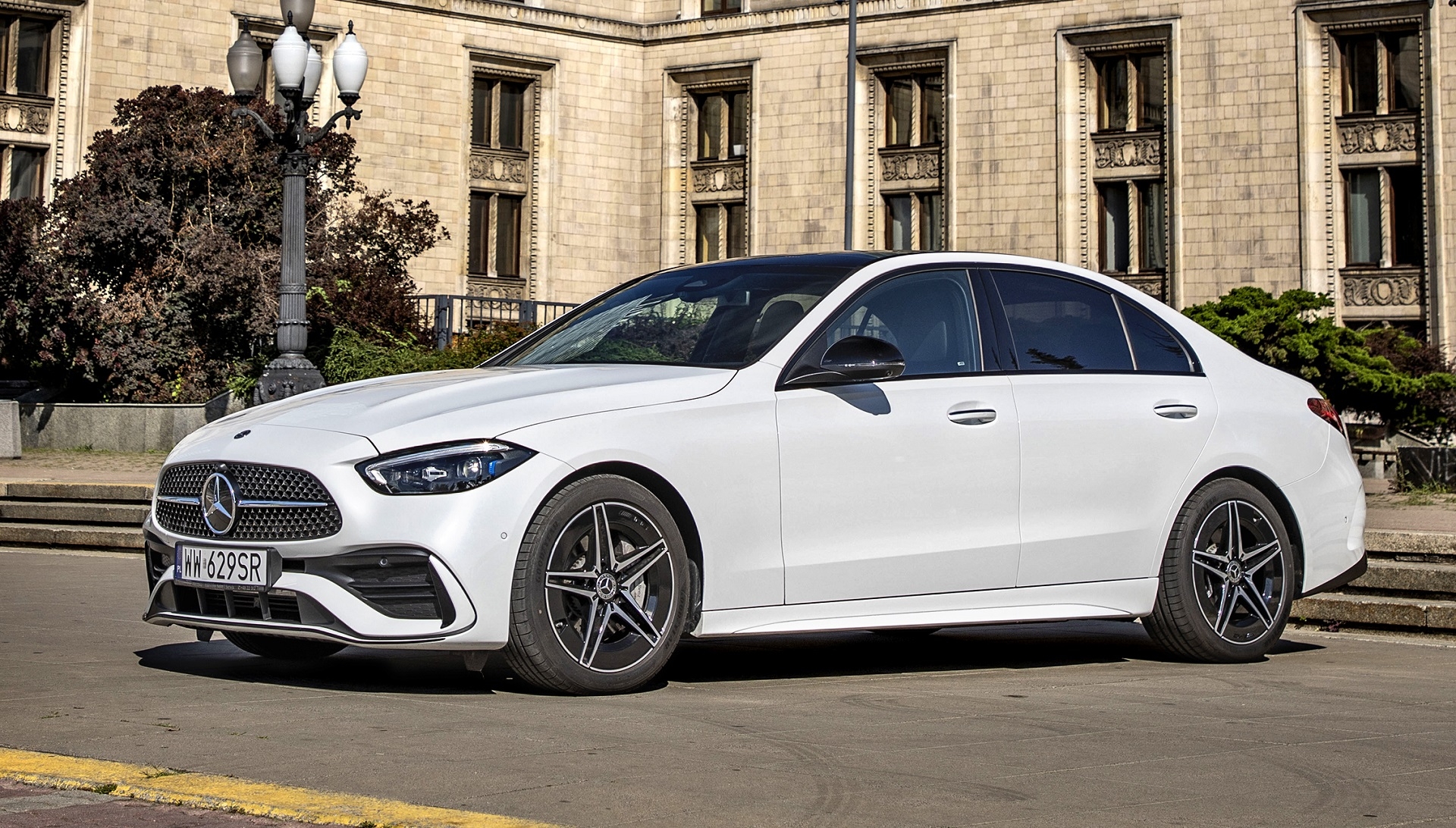 2021 Mercedes C220d - przód