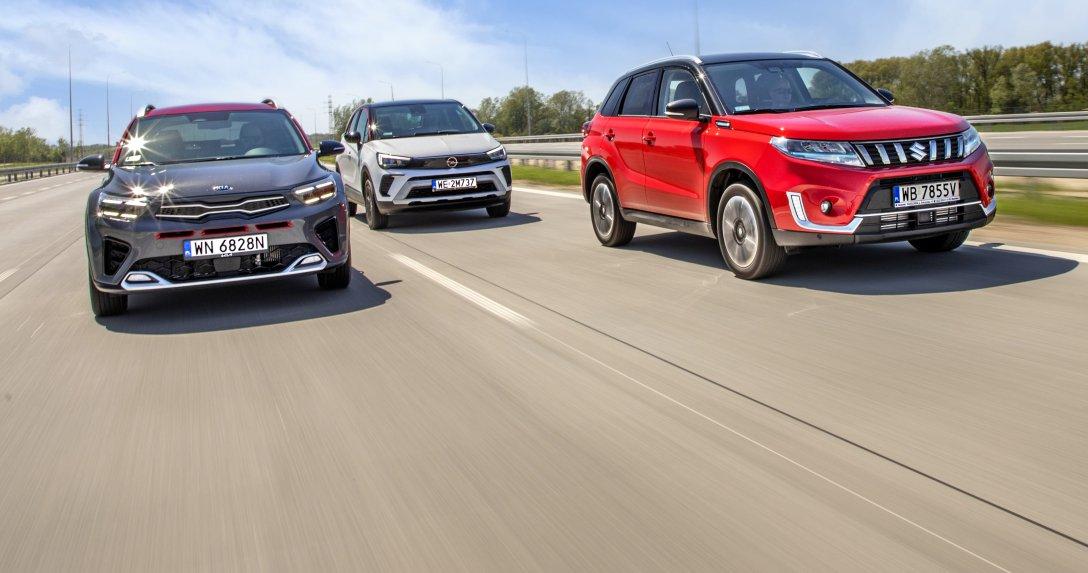 Kia Stonic, Opel Crossland i Suzuki Vitara