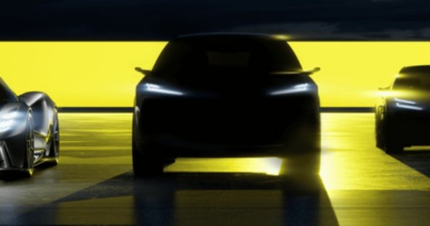 SUV Lotusa - szkic, przód