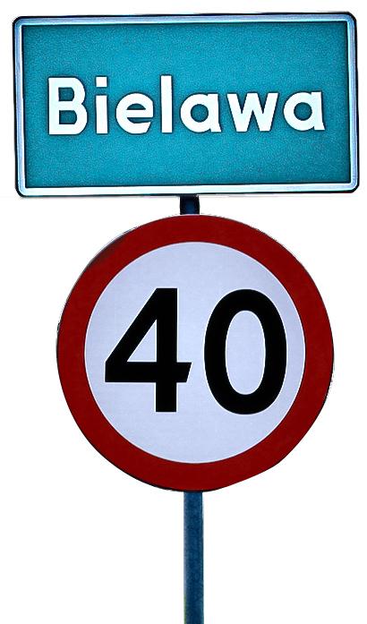 Ograniczenie prędkości wcałej miejscowości