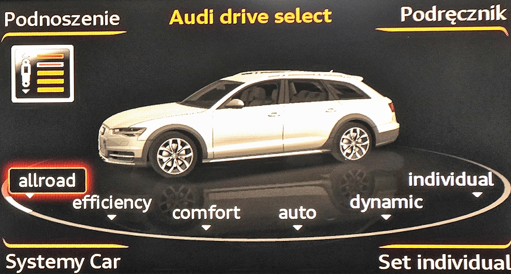 Audi A6 (C7) Allroad 3.0 TDI Audi drive select