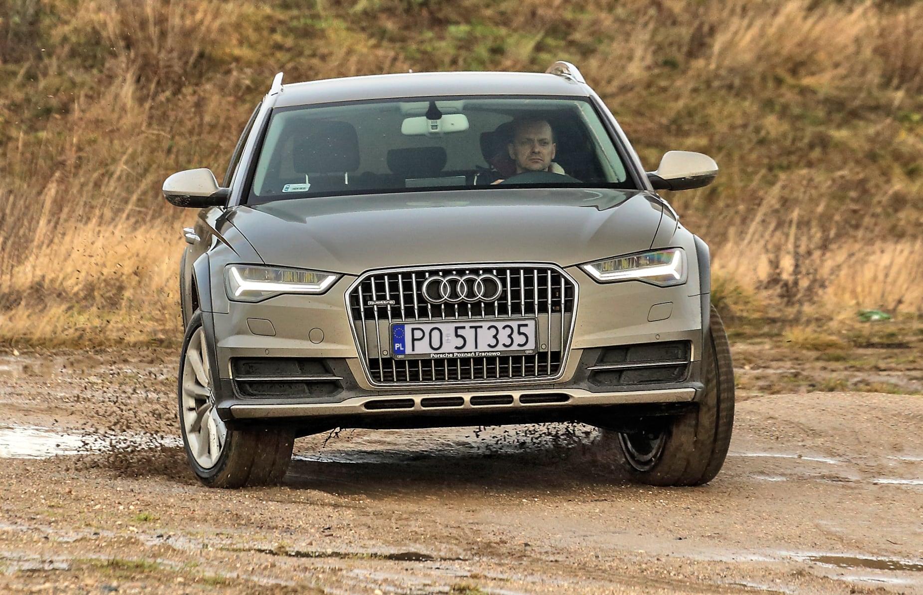 Audi A6 (C7) Allroad 3.0 TDI przód wruchu naszutrze