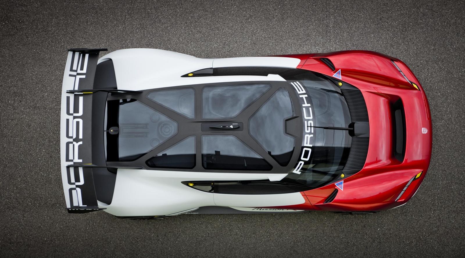 Porsche Mission R - widok zgóry
