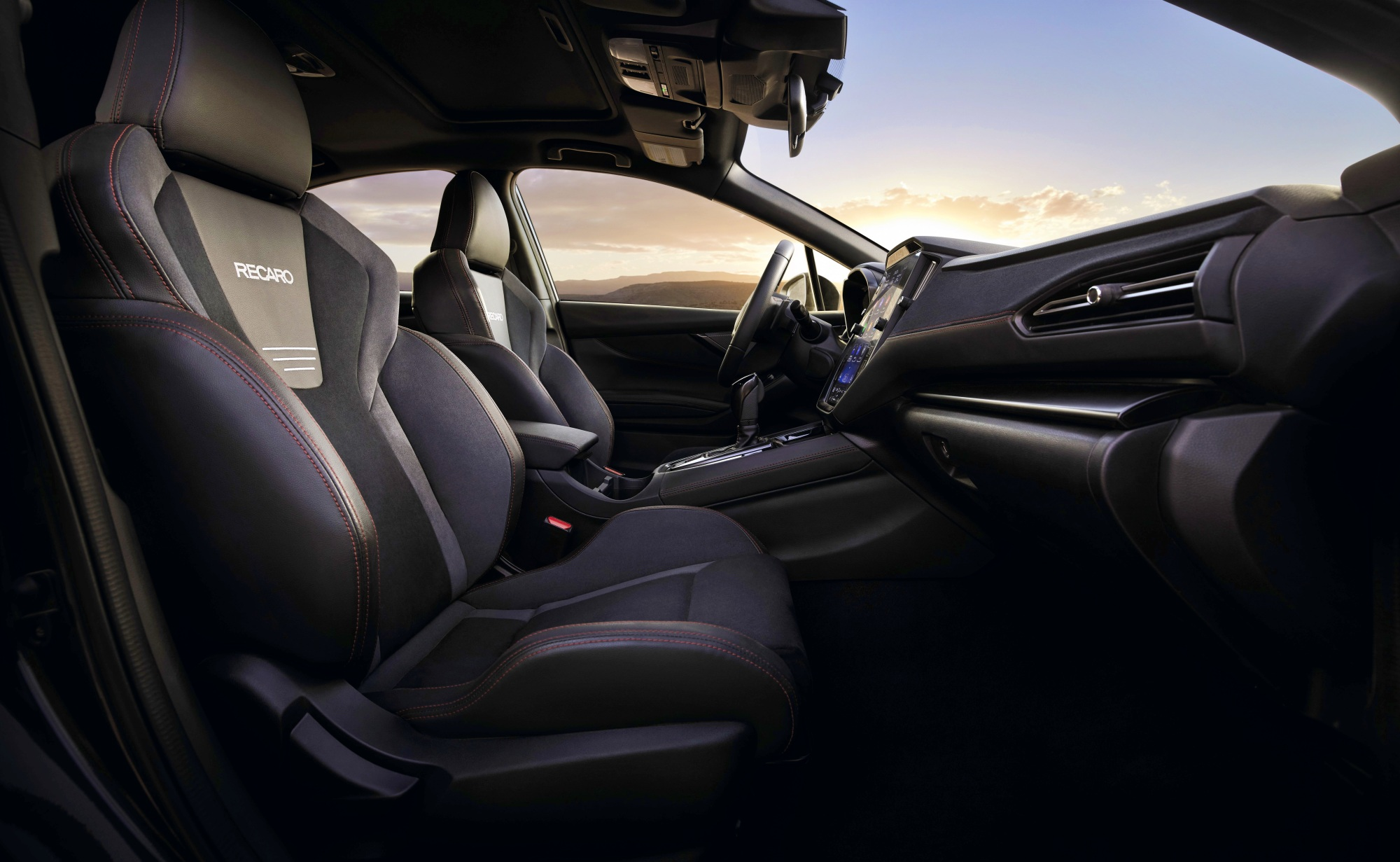 Subaru WRX fotele Recaro