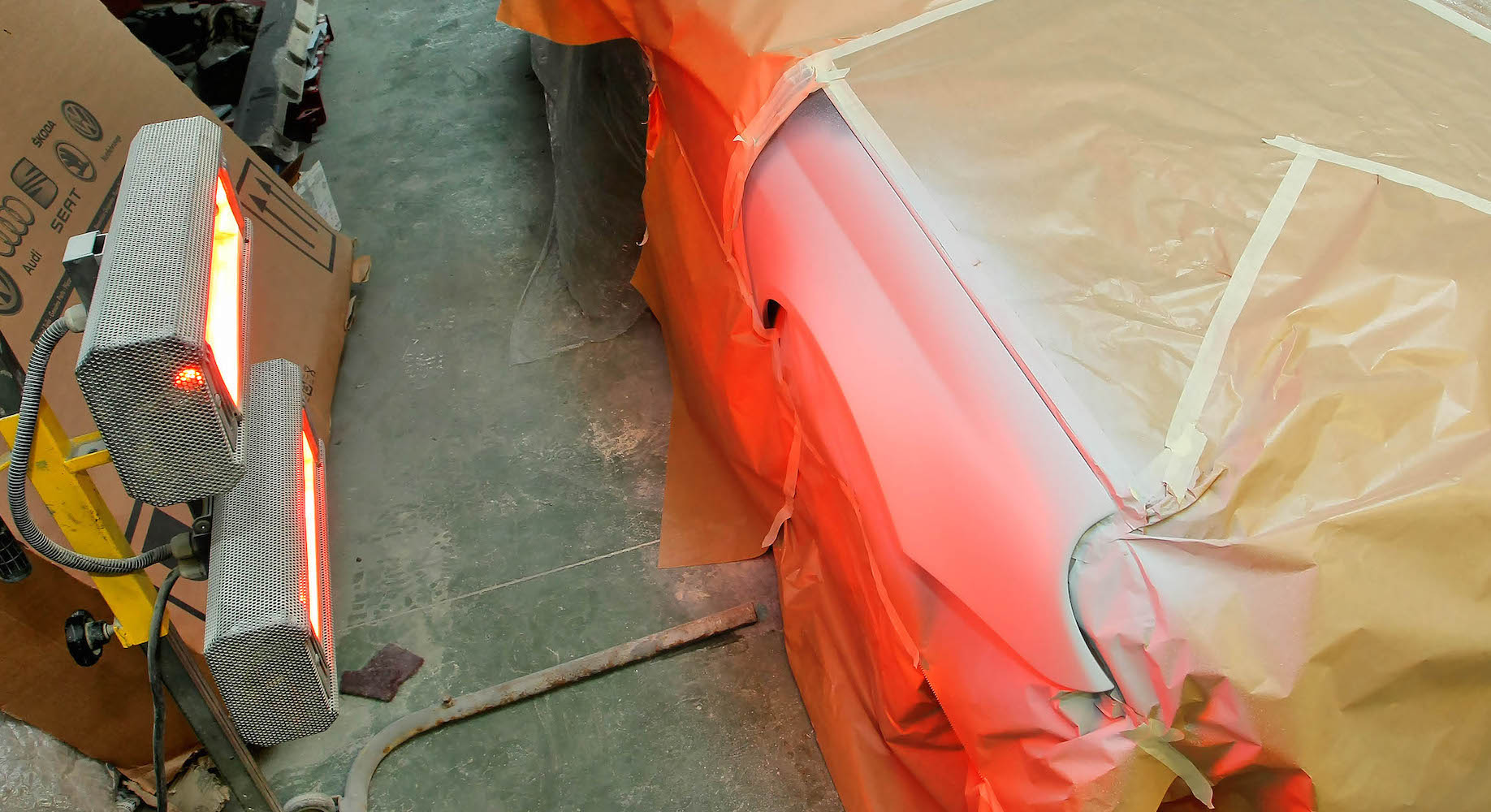 suszenie lakierowanego blotnika