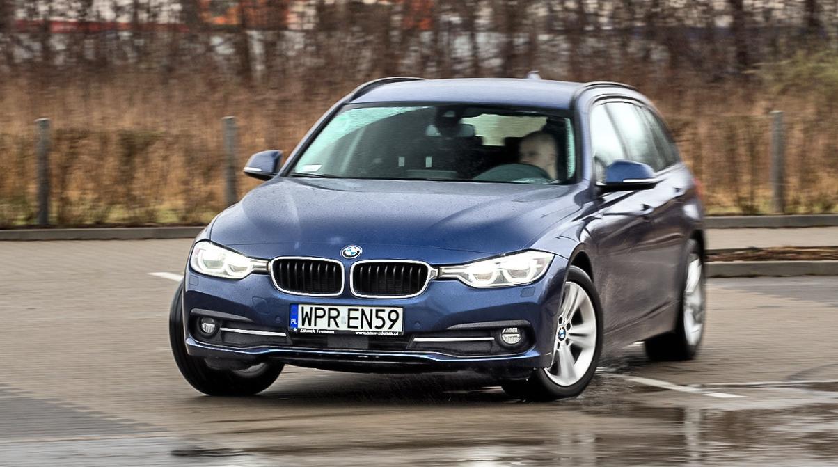 BMW 320d xDrive F31 przód wzakręcie