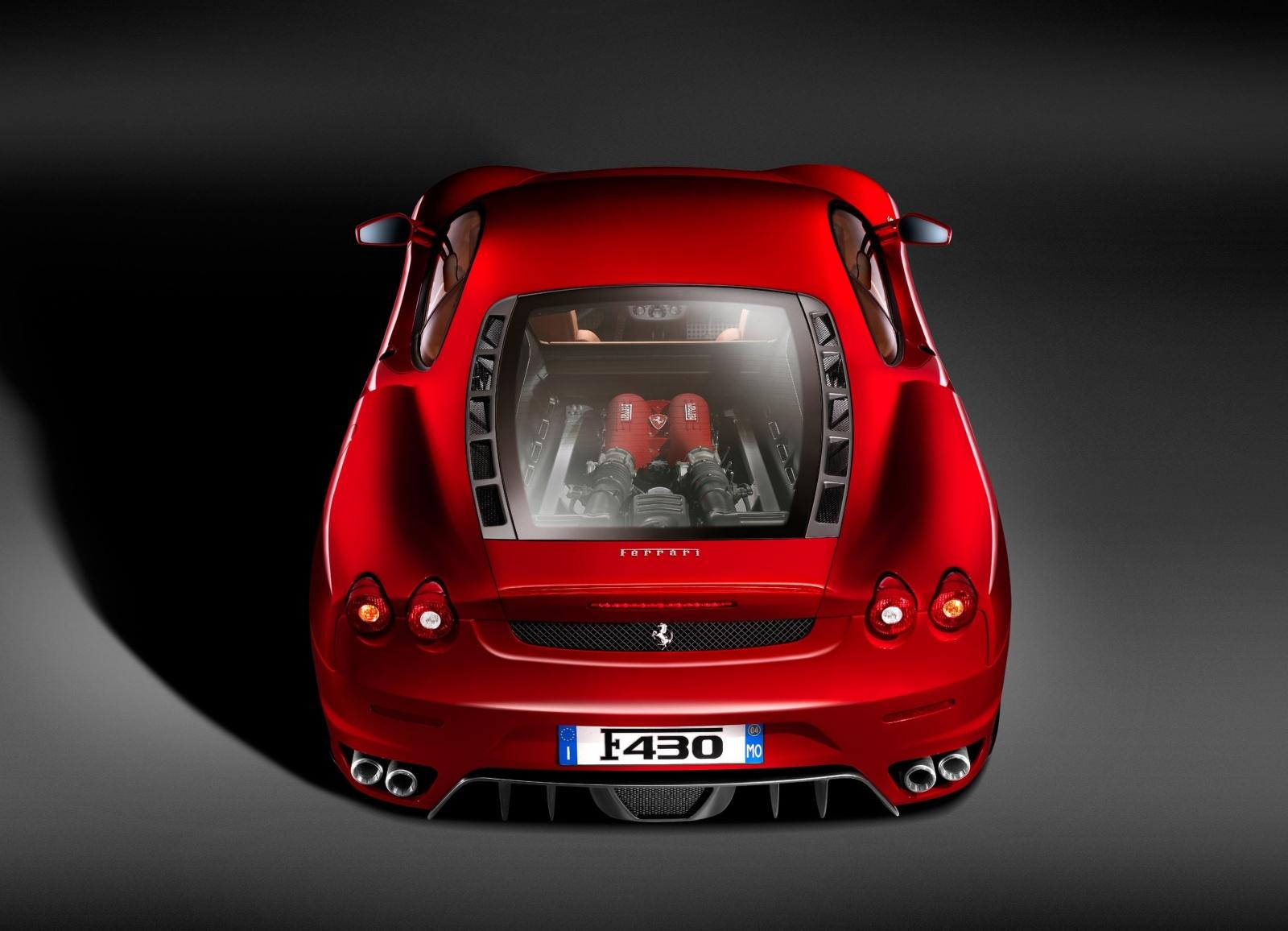 Ferrari F430 - tył, silnik