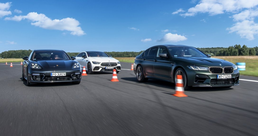 Porsche Panamera, Mercedes-AMG GT i BMW M5 na torze