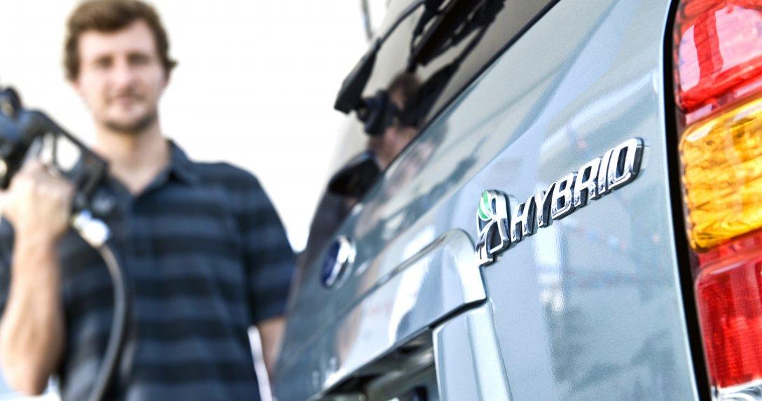 Logo auta hybrydowego