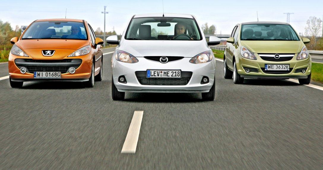 Mazda 2, Opel Corsa D, Peugeot 207