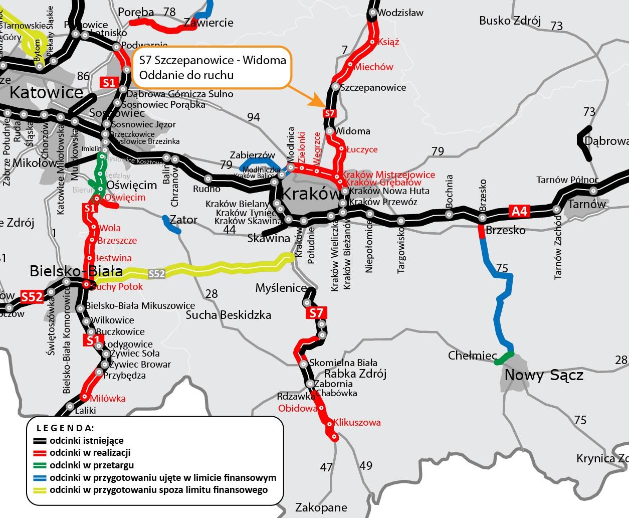droga s7 mapa