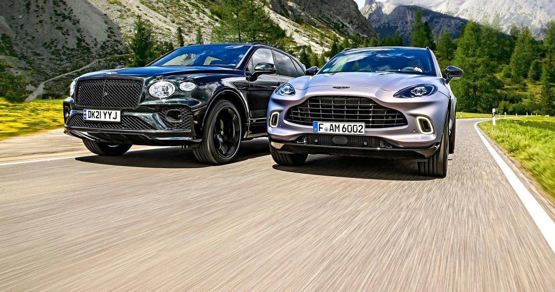 Bentley Bentayga V8 i Aston Martin DBX